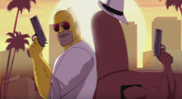 VIDEO: Check Out Sunday's 'Miami Vice'-Themed SIMPSON's Couch Gag