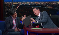 VIDEO: Stephen Colbert Tries to Get a Good Review From Yelp's CEO