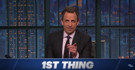 VIDEO: Seth Discusses 'A Couple Things' on LATE NIGHT