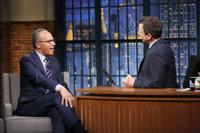 VIDEO: Lester Holt Talks Moderating Democratic Debate on LATE NIGHT