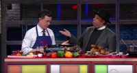 VIDEO: Rev Run Gives Stephen A Kebab Lesson on LATE SHOW
