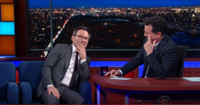 VIDEO: Christian Slater & Stephen Work On Their Award Night Loser Faces