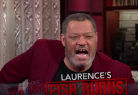 VIDEO: Laurence Fishburne Presents 'Laurence's Fish Burns' on LATE SHOW