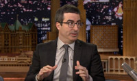 VIDEO: John Oliver Talks Starting a Fake Church, Pulling Off Edward Snowden Interview on TONIGHT