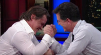 VIDEO: Josh Brolin & Stephen Colbert Arm Wrestle to See Who Is Tougher