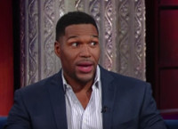 VIDEO: Michael Strahan Talks Sunday's SUPER BOWL on 'Late Show'