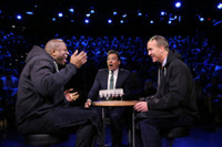 VIDEO: Magic Johnson & Peyton Manning Play Egg Russian Roulette on TONIGHT
