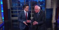VIDEO: Bernie Sanders Helps Colbert Open THE LATE SHOW
