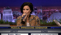 VIDEO: Demi Lovato Takes on the 'Wheel of Musical Impressions' on TONIGHT