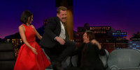 VIDEO: Jenna Dewan Tatum Helps James Corden Give Norman Reedus a Lap Dance on LATE LATE SHOW