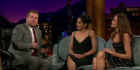 VIDEO: Freida Pinto, Saffron Burrows & James Corden Reflect on Their Modeling Careers!