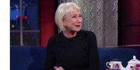 VIDEO: Helen Mirren Carnival Barks Jon Batiste (And Kisses Stephen Again) on LATE SHOW