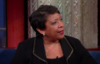 VIDEO: Attorney General Loretta Lynch Talks Hillary's Emails & More on LATE SHOW