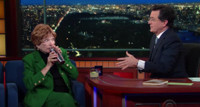VIDEO: Stephen Makes Shirley MacLaine A Cocktail on LATE SHOW