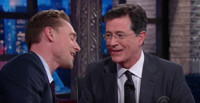 VIDEO: Tom Hiddleston & Stephen Colbert Duet on Classic Hank Williams Song