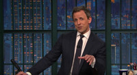 VIDEO: Seth Meyers Says Son Was Almost Born In an Uber; Reveals Baby's Name on LATE NIGHT