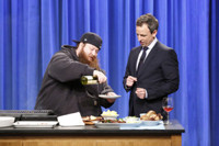 VIDEO: Rapper Action Bronson Cooks Up Some Grilled Octopus on LATE NIGHT