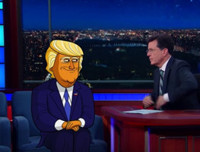 VIDEO: Cartoon Donald Trump Admits 'It's All An Act' on LATE SHOW