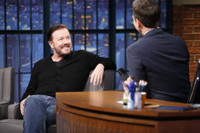 VIDEO: Ricky Gervais Talks New Film SPECIAL CORRESPONDENTS on 'Late Night'