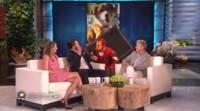VIDEO: ELLEN Gives CAPTAIN AMERICA's Chris Evans & Elizabeth Olsen an Epic Scare!