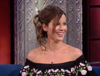 VIDEO: Stephen Colbert Offers Kate Beckinsale Little Known Jane Austin Stories to Star In