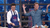 VIDEO: Stephen Colbert Shares Bourbon and Brunch with Bobby Flay on LATE SHOW