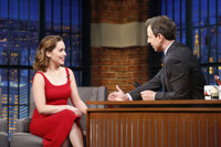 VIDEO: Emilia Clarke Talks New Film ME BEFORE YOU on 'Late Night'