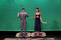 VIDEO: Karlie Kloss Teaches Jimmy How to Pose Midair on TONIGHT SHOW