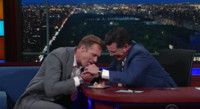 VIDEO: Alexander Skarsgard Challenges Stephen to Eat Swedish Fish Eggs on LATE SHOW