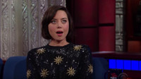 VIDEO: Aubrey Plaza Has Trouble Keeping a Secret on LATE SHOW