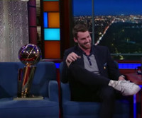 VIDEO: Kevin Love Shows Off NBA Championship Trophy on LATE SHOW