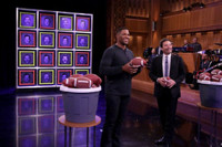 VIDEO: Michael Strahan Takes Aim in Game of 'Facebreakers' on TONIGHT SHOW