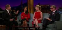 VIDEO: Zoe Saldana, Julia Stiles & Paul Feig Visit LATE LATE SHOW