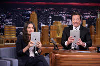VIDEO: Mila Kunis & Jimmy Try Out Photo Booth Filters on TONIGHT