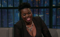 VIDEO: Leslie Jones Talks Crazy GHOSTBUSTERS Stunts & Her Rivalry with Her Wax Figure