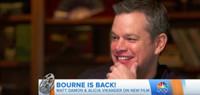 VIDEO: Matt Damon & Alicia Vikander Talks 'Jason Bourne' on TODAY