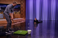 VIDEO: Jordan Spieth Attempts to Hit a Marshmallow Into Jimmy's Mouth on TONIGHT SHOW