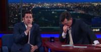 VIDEO: Watch John Krasinski & Stephen Colbert Fake Vomit While Reciting Shakespearean Sonnets