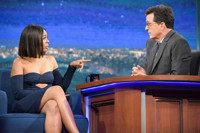 VIDEO: Stephen Spoils the Ending of Regina Hall's New Movie on LATE SHOW