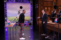 VIDEO: NFL Pro Russell Westbrook Plays Random Object Football Toss on TONIGHT