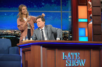 VIDEO: Jessica Alba Turns Stephen Into a Hipster Millennial on LATE SHOW