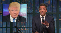 VIDEO: Seth Meyers Continues to Slam Donald Trump on LATE NIGHT