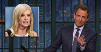 VIDEO: Seth Meyers Talks Hillary Clinton's 12-Point Lead & More on LATE NIGHT