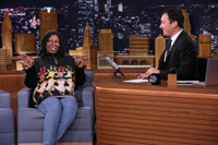 VIDEO: Whoopi Goldberg Has Jimmy Model Her Ugly Holiday Sweater on TONIGHT SHOW