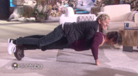 VIDEO: Sneak Peek - Milo Ventimiglia Shows Off Push-Up Skills with Help from Ellen DeGeneres!