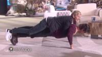 VIDEO: Sneak Peek - Milo Ventimiglia Shows Off Push-Up Skills with Help from Ellen DeGeneres!
