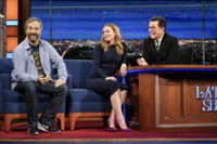 VIDEO: Judd Apatow Crashes Wife Leslie Mann's Appearance on LATE SHOW