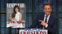 VIDEO: Seth Meyers Has A Lot of Questions About Melania Trump's Vanity Fair Cover