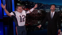 VIDEO: Jimmy Kimmel Unmasks a Fake 'Tom Brady' on Last Night's Show