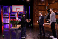 VIDEO: Ice Cube & Blake Griffin Compete in Random Objects Shootout on TONIGHT